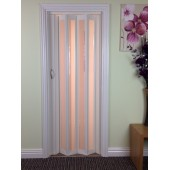 The New Generation Concertina Marley Folding Door - White Glass