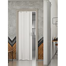 The Piazza - Up To 83cm Single Concertina Door Plain White