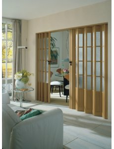 Concertina Folding Door The President From Marley -  Wood Effect