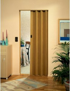 The Eurostar Folding Door - Light Oak Wood Effect