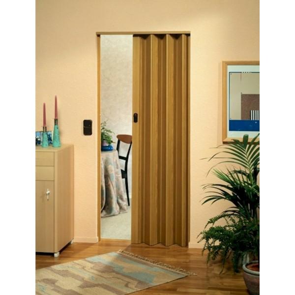 The Eurostar Folding Door - Light Oak Wood Effect