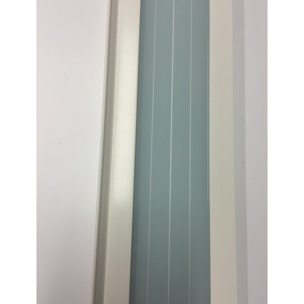 The Eurostar Folding Door - Extension Panel - White - Glass Lines