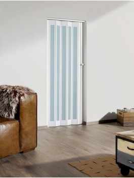 The Eurostar Folding Door - White - Glass Lines