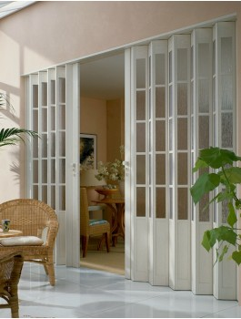 Concertina Folding Door The President From Marley - Royal Ash White Glass