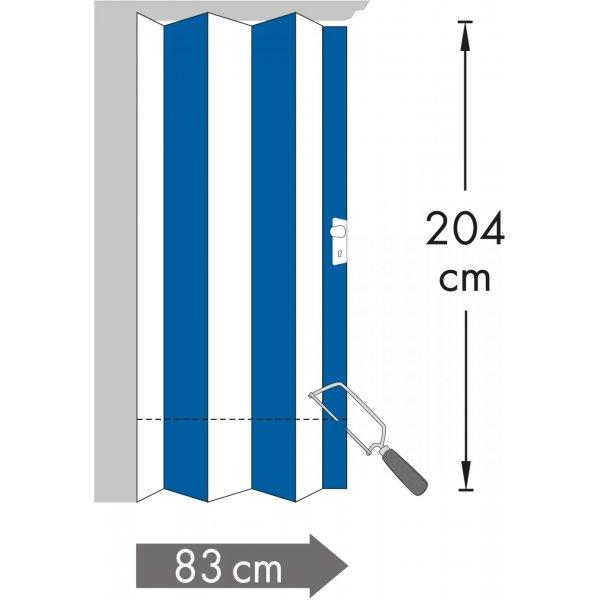 Rapido  Internal Folding Door 830mm Grey