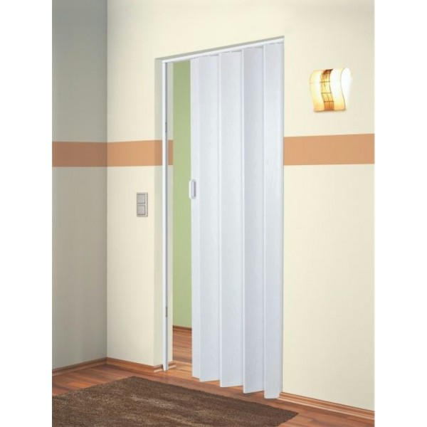 The Plaza - Up To 88cm Single Folding Door White Ash